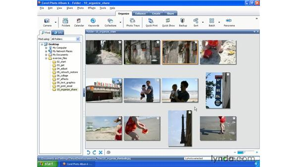 Organizing photos: Getting Started with Paint Shop Pro X