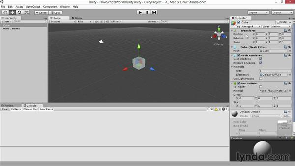 How scripts work in Unity: Advanced Unity 3D Game Programming