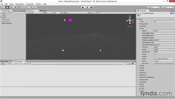 Mouse input: Advanced Unity 3D Game Programming