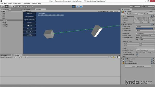 Ray casting: Advanced Unity 3D Game Programming