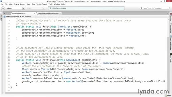 Extension methods: Advanced Unity 3D Game Programming