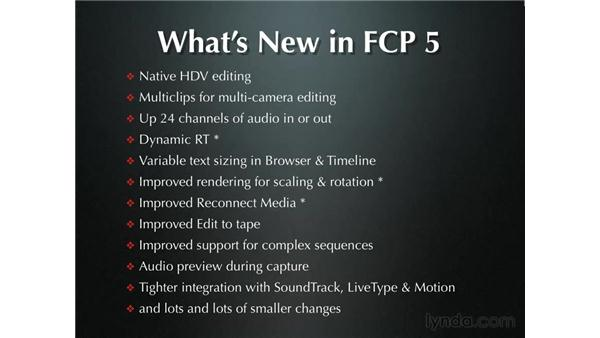 New features in Final Cut Pro 5: Final Cut Pro 5 Essential Editing