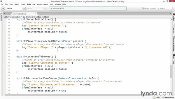 Getting connected: Advanced Unity 3D Game Programming