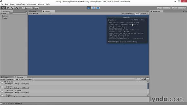Finding slow code: Advanced Unity 3D Game Programming