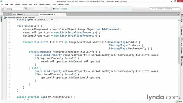 Custom editor elements: Advanced Unity 3D Game Programming