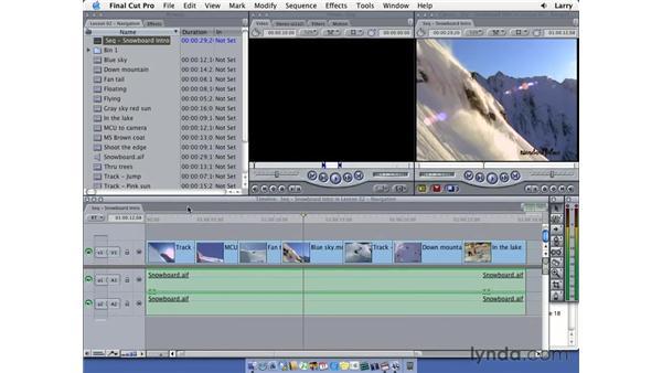 Final Cut interface: Final Cut Pro 5 Essential Editing