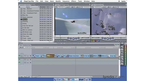 Moving clips: Final Cut Pro 5 Essential Editing