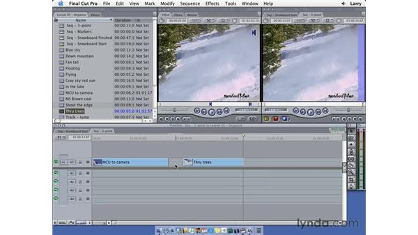 Backtime editing: Final Cut Pro 5 Essential Editing