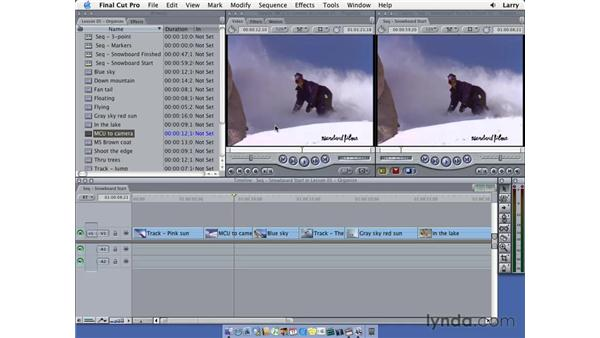 Replace editing: Final Cut Pro 5 Essential Editing