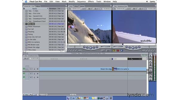 Three sides to every edit: Final Cut Pro 5 Essential Editing