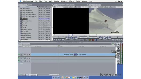 One-sided trims: Final Cut Pro 5 Essential Editing
