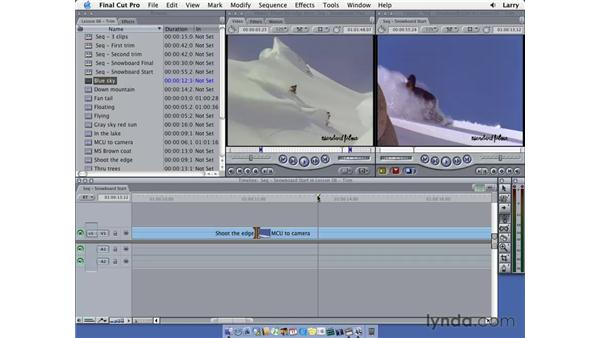 Two-sided trims: Final Cut Pro 5 Essential Editing