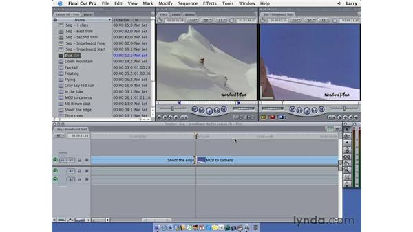 Power trimming: Final Cut Pro 5 Essential Editing