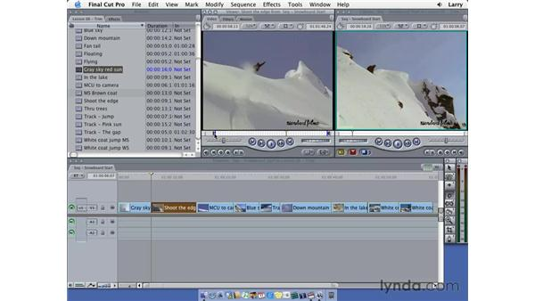 Trimming in the viewer: Final Cut Pro 5 Essential Editing