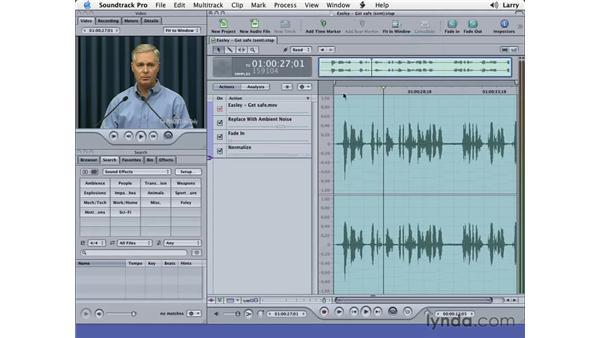 Soundtrack mixing: Final Cut Pro 5 Essential Editing