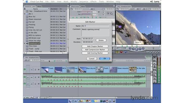 Markers: Final Cut Pro 5 Essential Editing