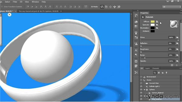 Changing the colors of 3D objects: Introducing Photoshop: 3D