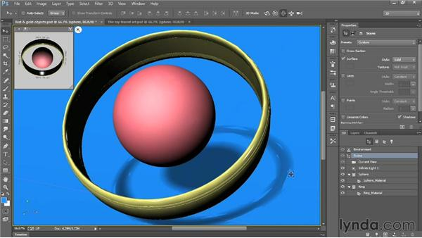 Rendering the final 3D artwork: Introducing Photoshop: 3D