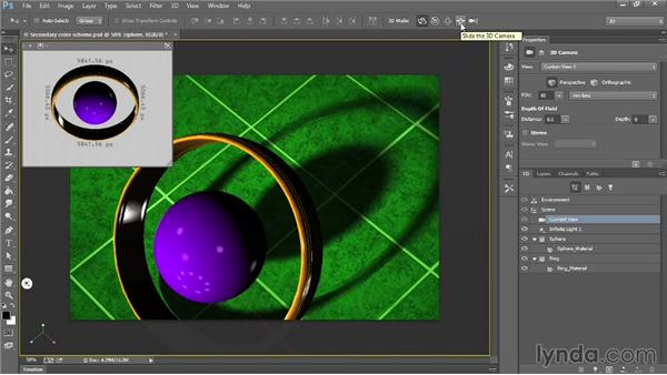 Rotating the 3D camera: Introducing Photoshop: 3D