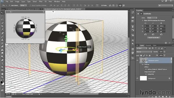 Rotating an object in 3D space: Introducing Photoshop: 3D