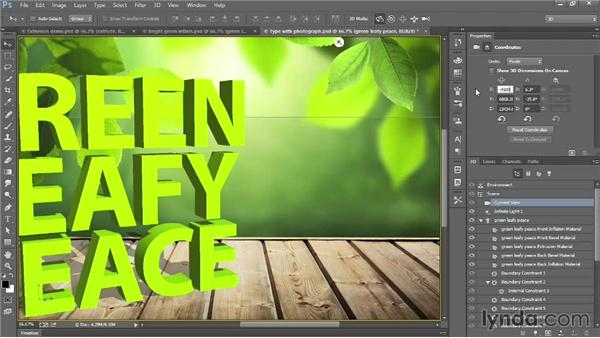 Creating 3D type: Introducing Photoshop: 3D