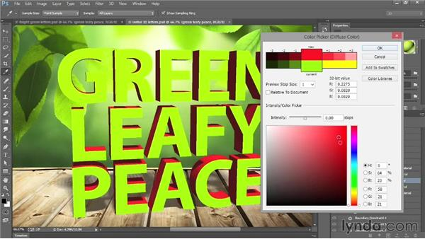Coloring the extruded sides: Introducing Photoshop: 3D