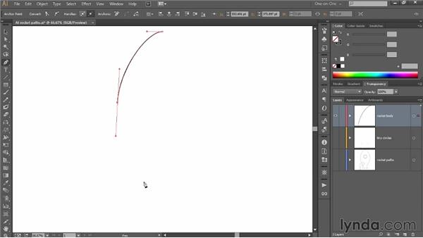 Drawing a symmetrical path in Illustrator: Introducing Photoshop: 3D