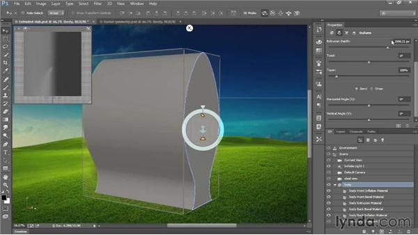 Bending a path around its center: Introducing Photoshop: 3D