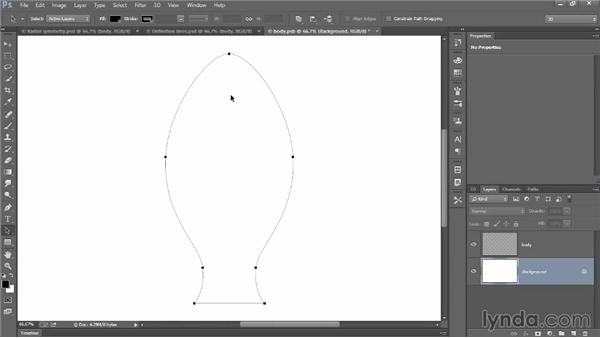 Editing an existing 3D path outline: Introducing Photoshop: 3D