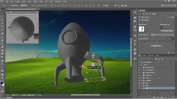 Duplicating 3D meshes: Introducing Photoshop: 3D