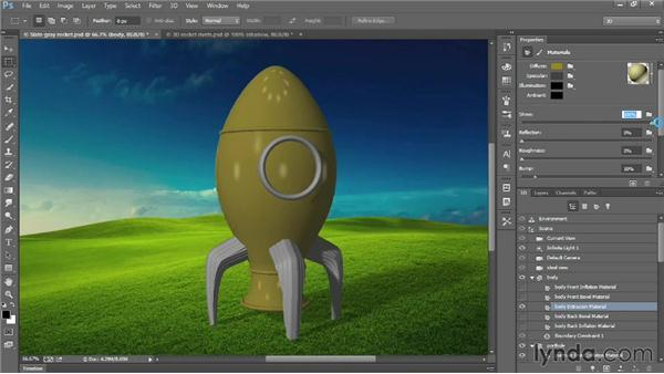 Diffuse, Specular, Shine, and Reflection: Introducing Photoshop: 3D
