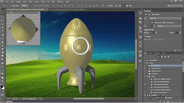 Modifying multiple materials at a time: Introducing Photoshop: 3D