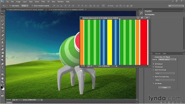 Diffuse texture and UV Overlay: Introducing Photoshop: 3D