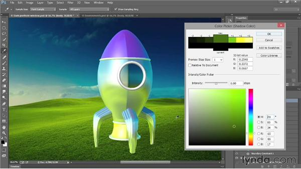 Adding and adjusting environments: Introducing Photoshop: 3D