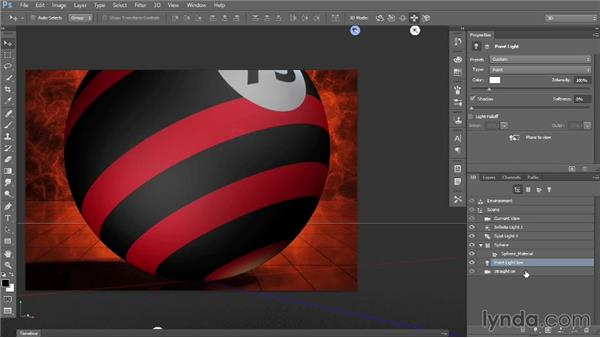 Point lights and reflections: Introducing Photoshop: 3D