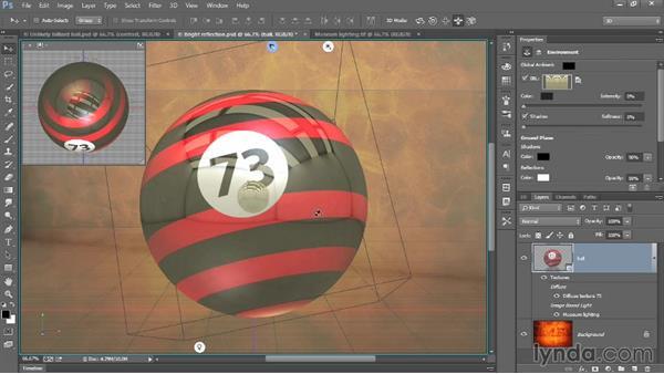 Customizing the image-based light: Introducing Photoshop: 3D