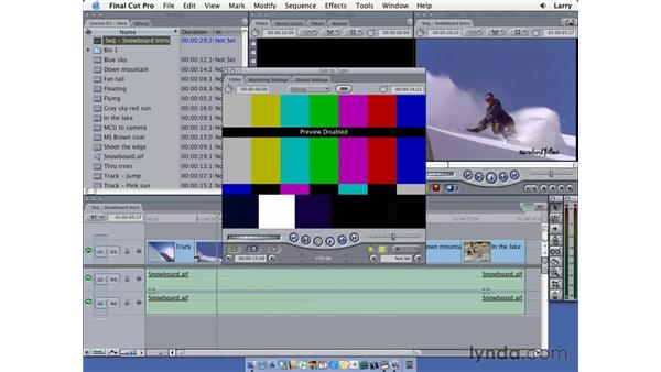 Editing to tape: Final Cut Pro 5 Essential Editing