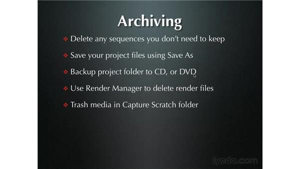 Archiving: Final Cut Pro 5 Essential Editing