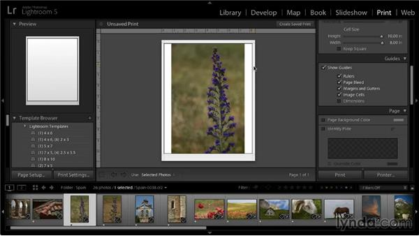 Using guides: Lightroom 5: 05 Printing