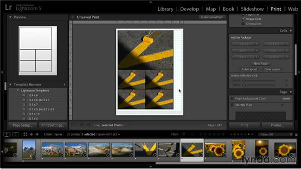 Creating a picture package: Lightroom 5: 05 Printing