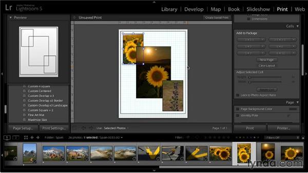 Creating a custom package: Lightroom 5: 05 Printing