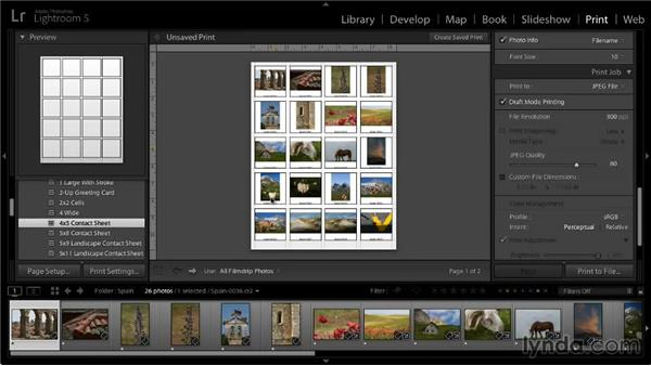 Printing to a JPEG file: Lightroom 5: 05 Printing