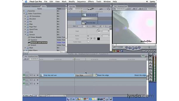 Transitions pt. 2: Final Cut Pro 5 Essential Editing