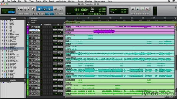 Getting your session organized: Mixing a Modern Jazz Track
