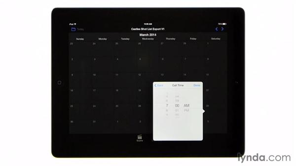 Creating a shoot-day schedule: Managing a Video Production with an iPad