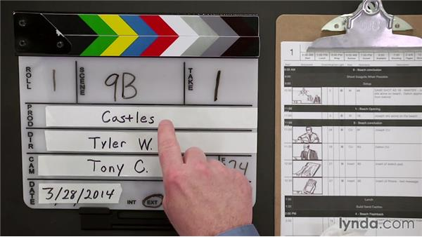 Using a physical slate: Managing a Video Production with an iPad