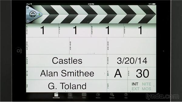 Using the MovieSlate iPad app: Managing a Video Production with an iPad