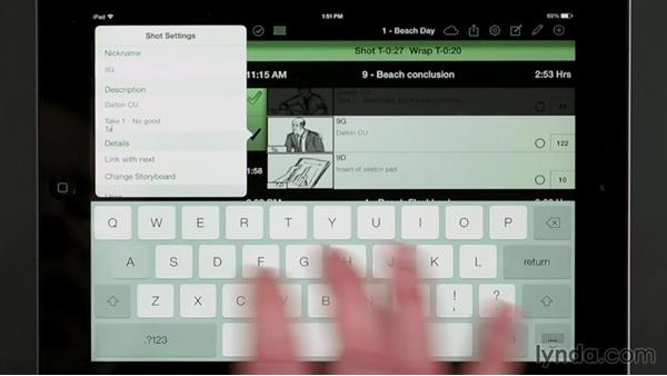 Logging shots with the Shot Lister app: Managing a Video Production with an iPad