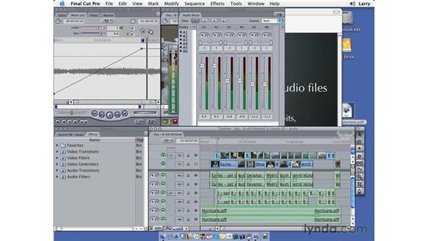 Audio mixing pt. 3: Final Cut Pro 5 Essential Editing