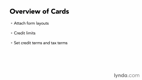 Overview of cards: MYOB AccountRight 2013 Essential Training
